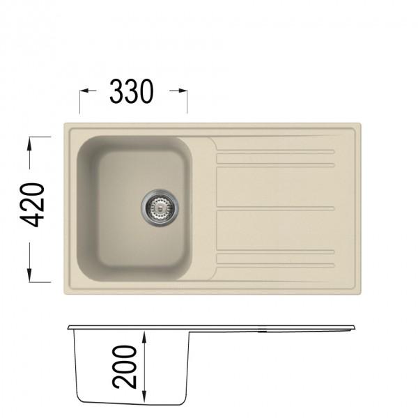 PRIME 400H Кухненски мивки